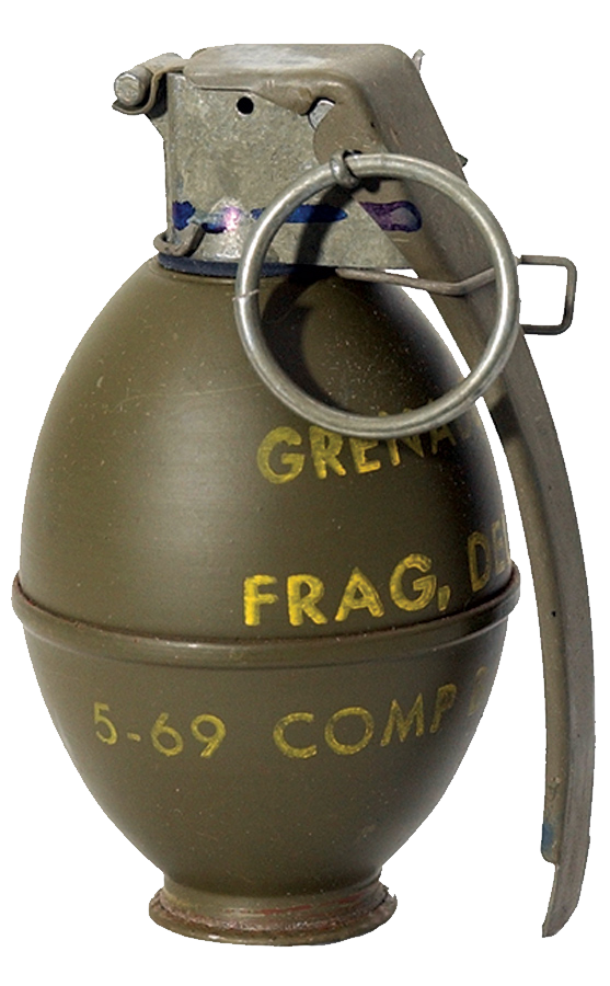 US hand grenade PNG image