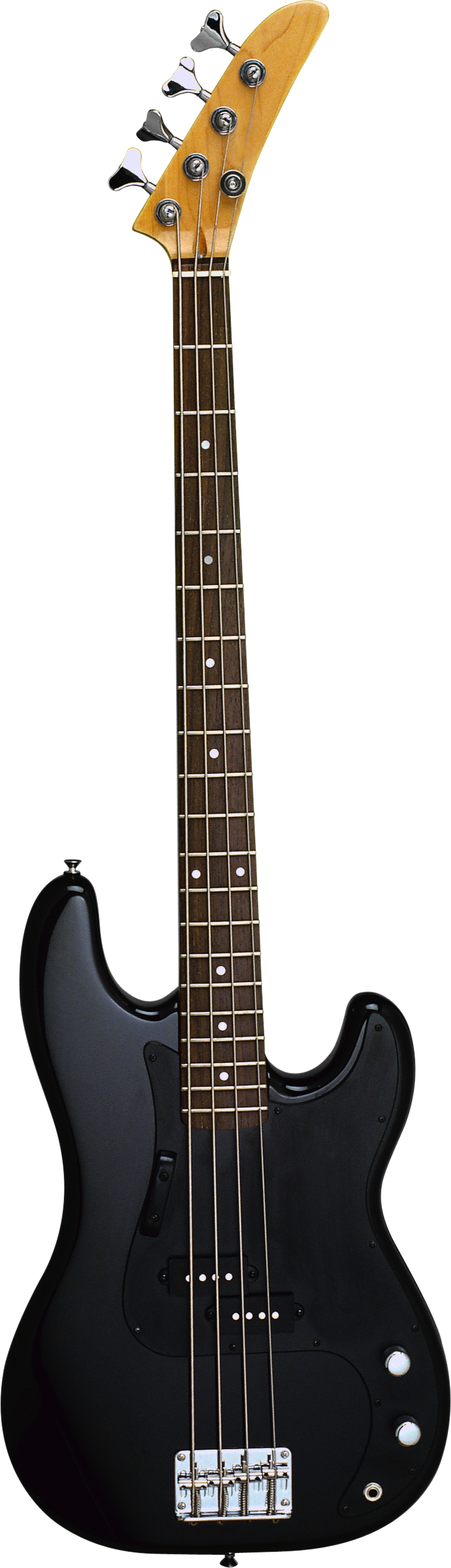 Black electric guitar PNG image
