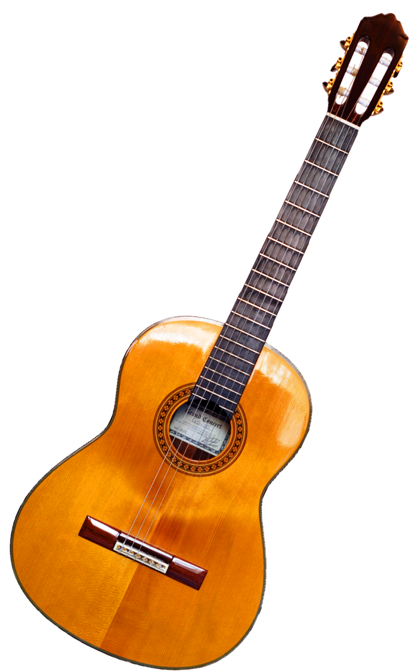 Acoustic classic guitar PNG image
