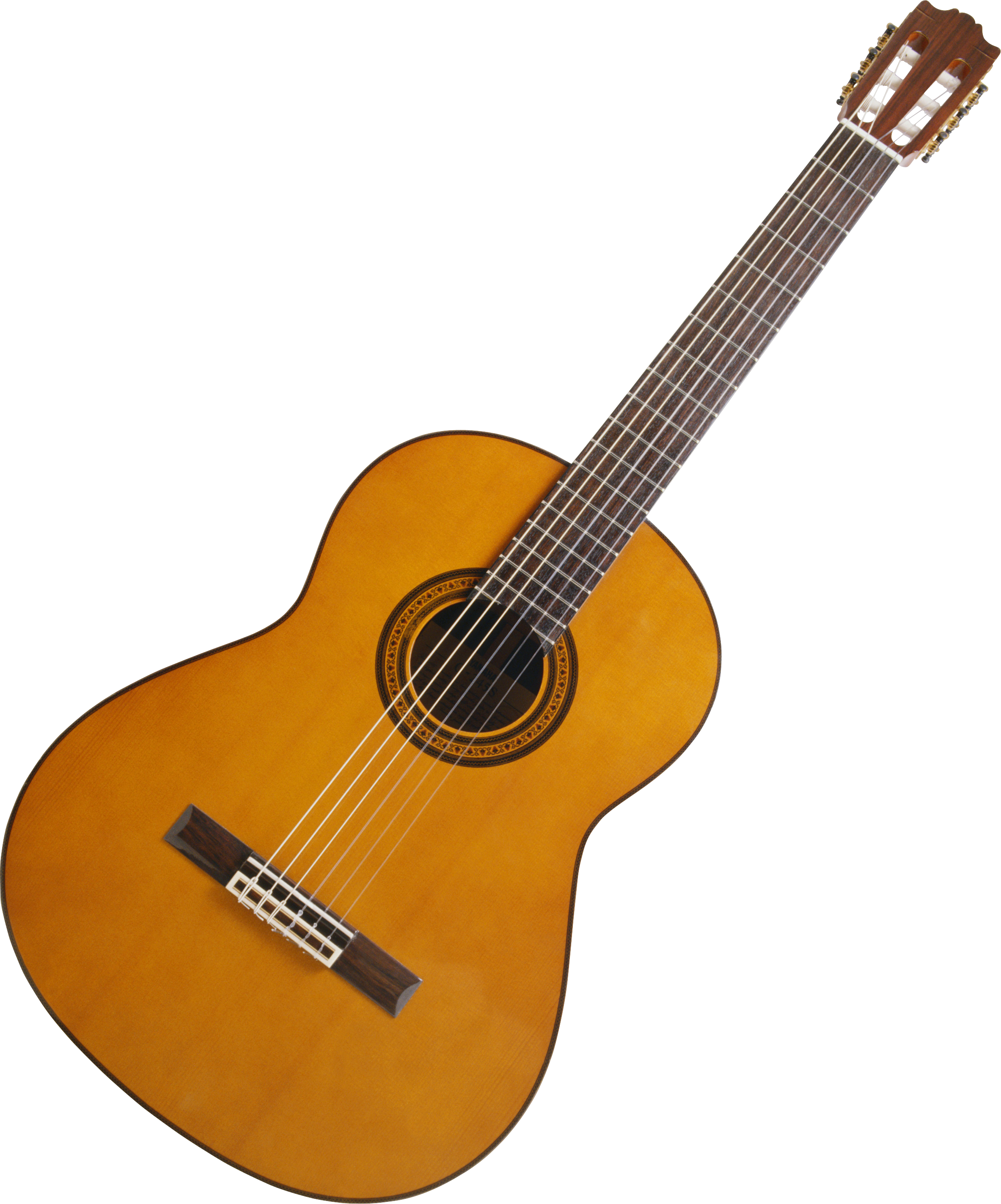 Acoustic wooden guitar PNG image