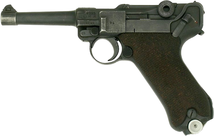 Luger german handgun PNG image