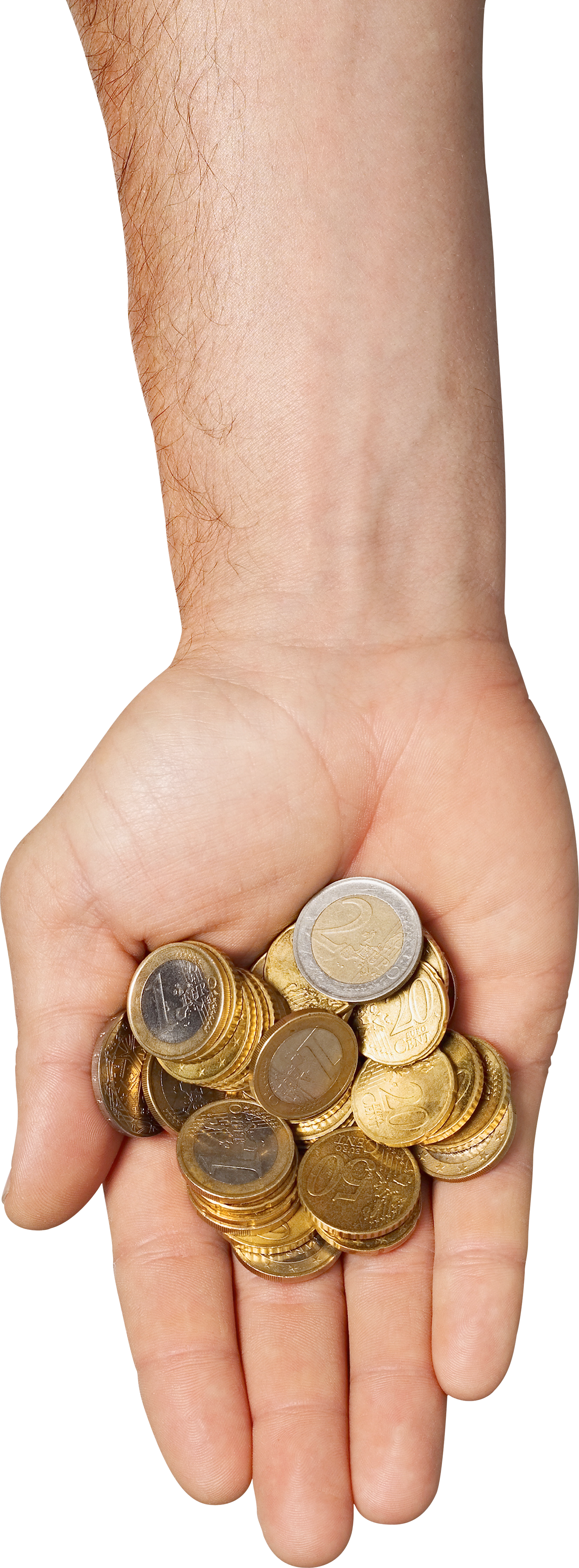 Money in hand PNG image