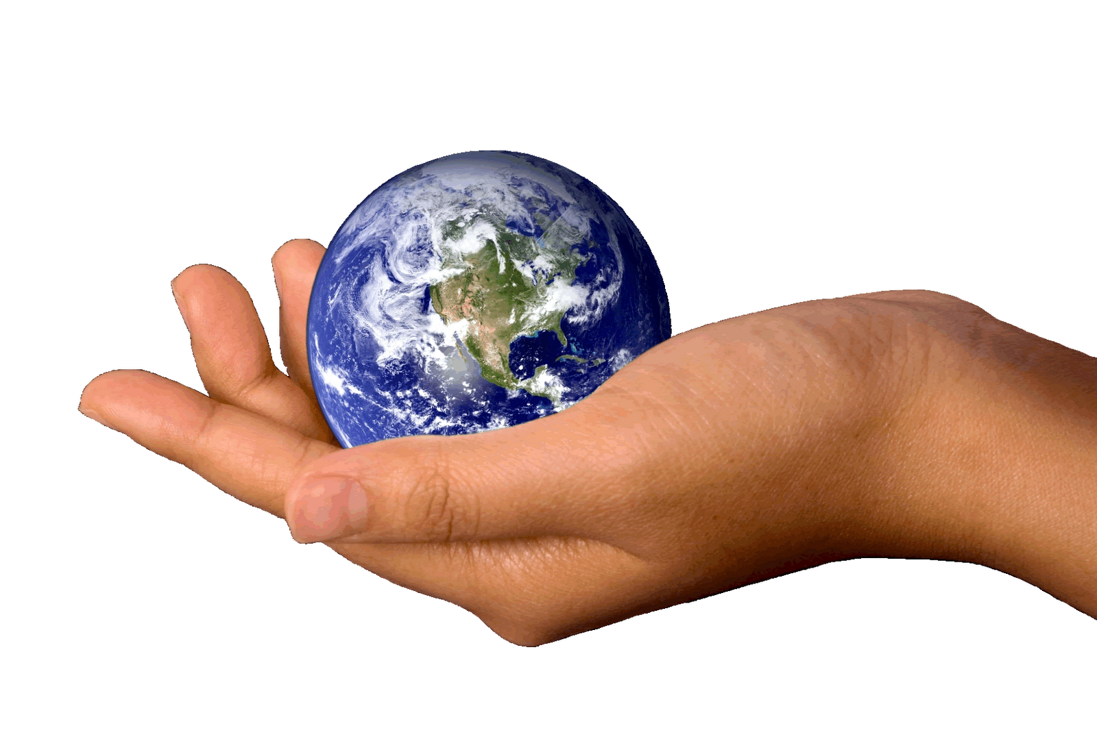 Earth in  hands, PNG, hand image free