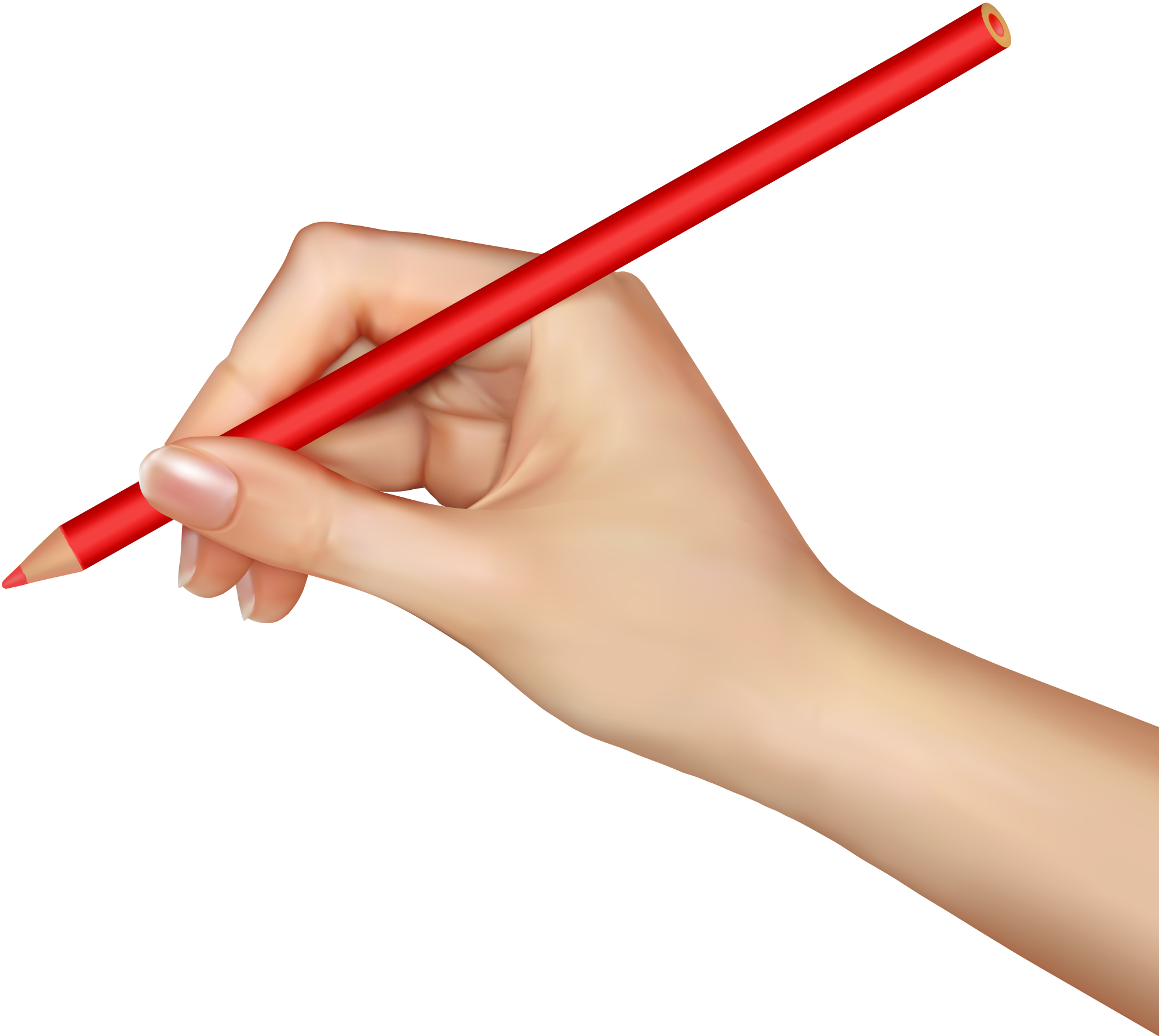 Pencil in hand, hands PNG, hand image free