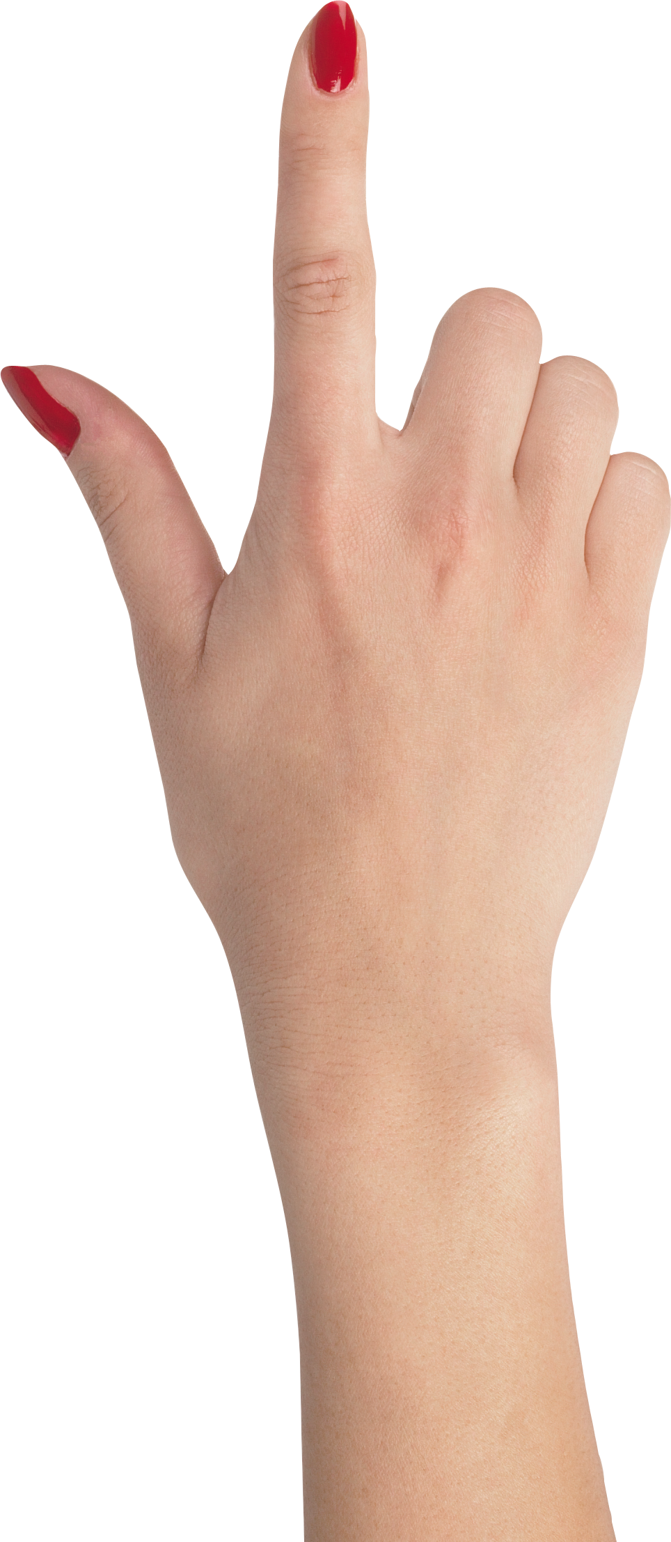 One finger hand with red nails, hands PNG, hand image free
