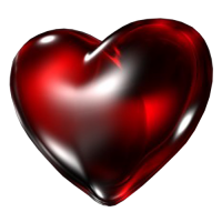 Dark heart PNG image, free download