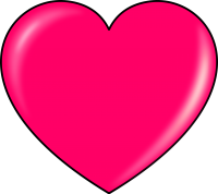 Pink heart PNG image, free download