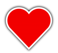 Red heart PNG image, free download