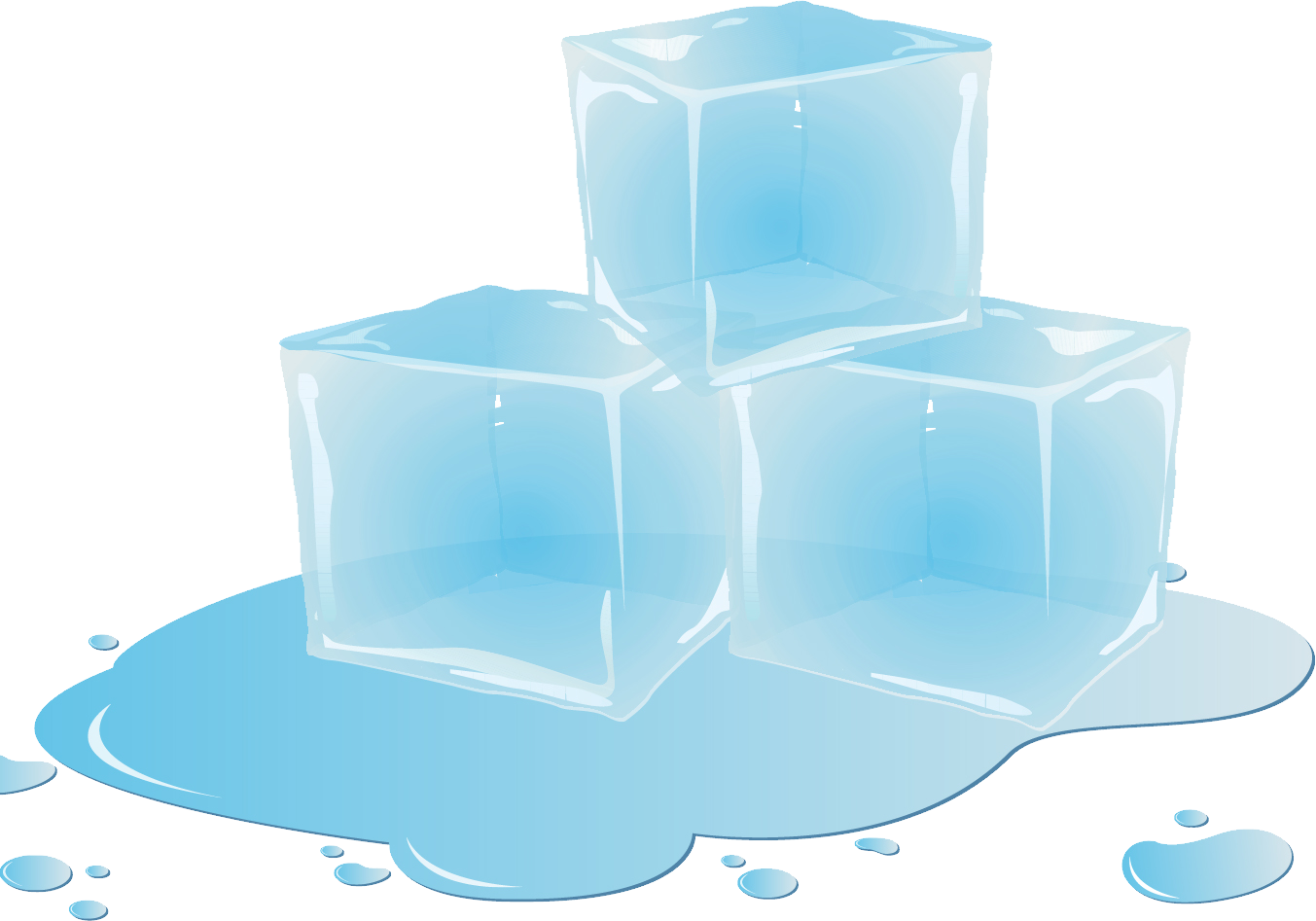 Ice cubes PNG image