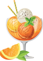 Fruit Ice cream PNG image