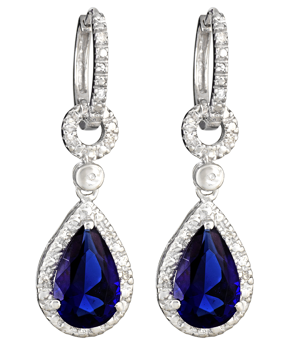 Diamond earrings PNG image