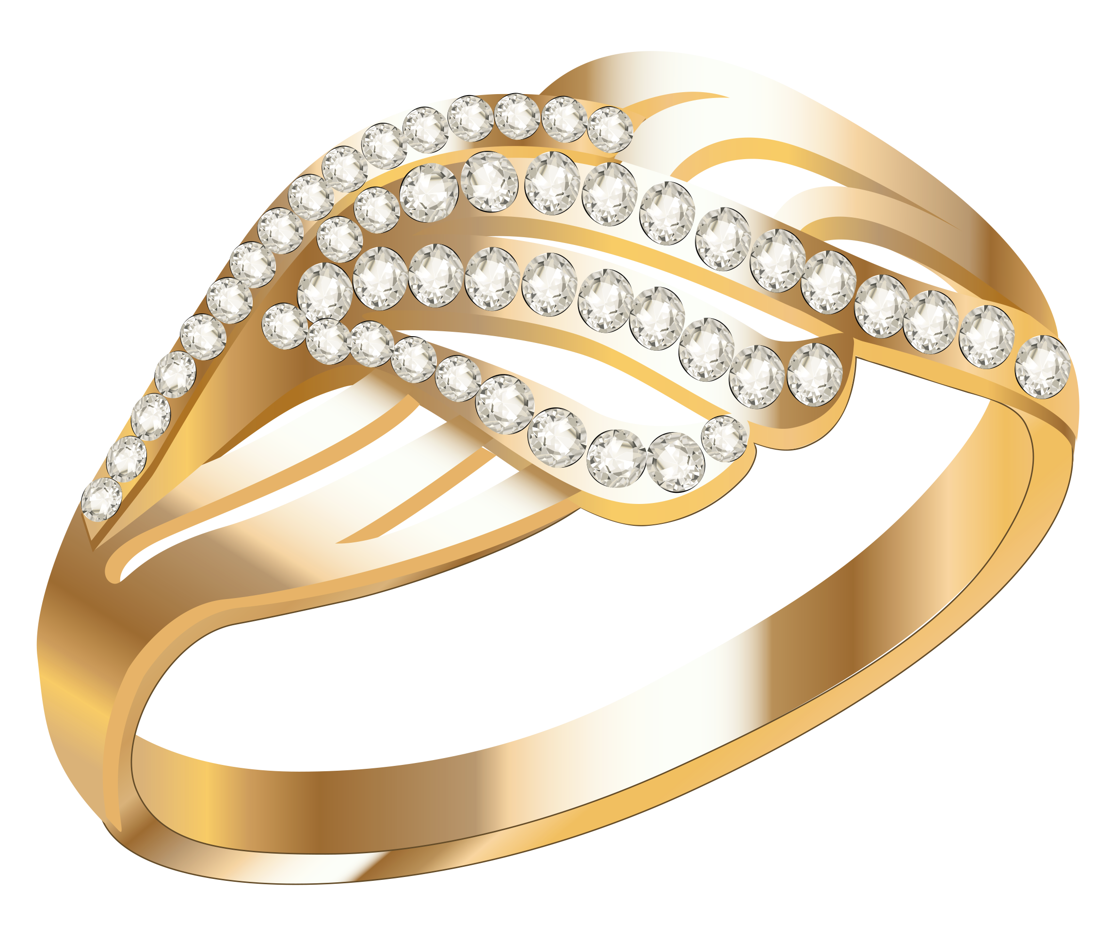 Wedding Rings Gold Round