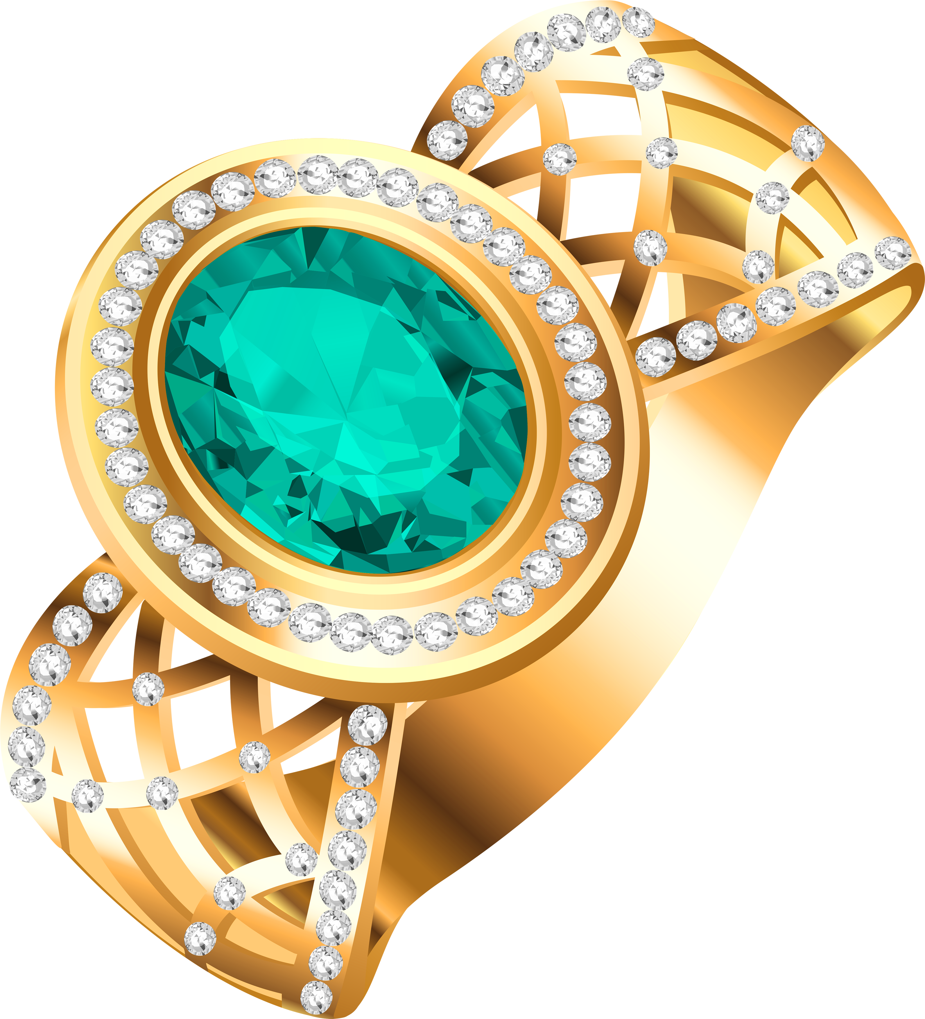 Diamond Rings With Emerald