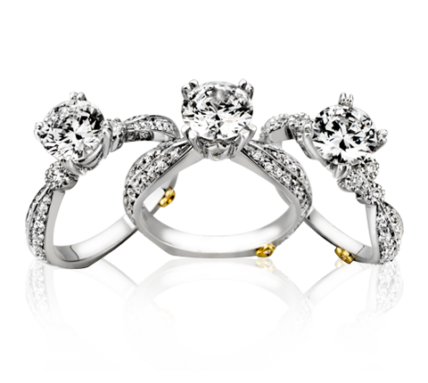 silver rings with diamond PNG