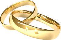 Golden rings PNG image