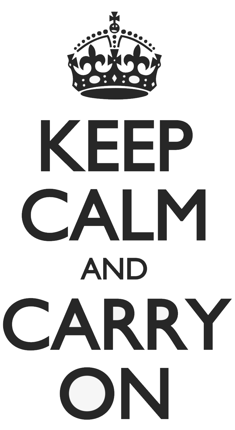 Keep Calm and carry on PNG