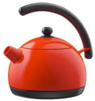 Orange kettle PNG image