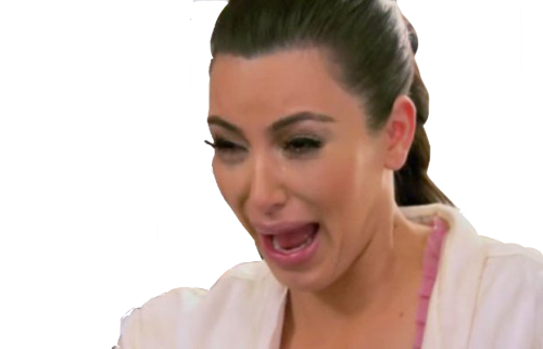 Crying Kim Kardashian PNG