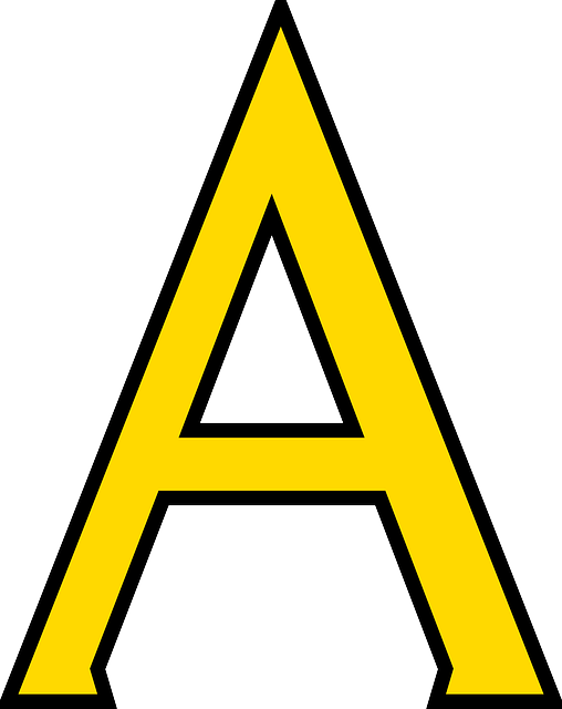 Letter A PNG images free a png