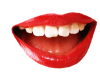 Red lips PNG image