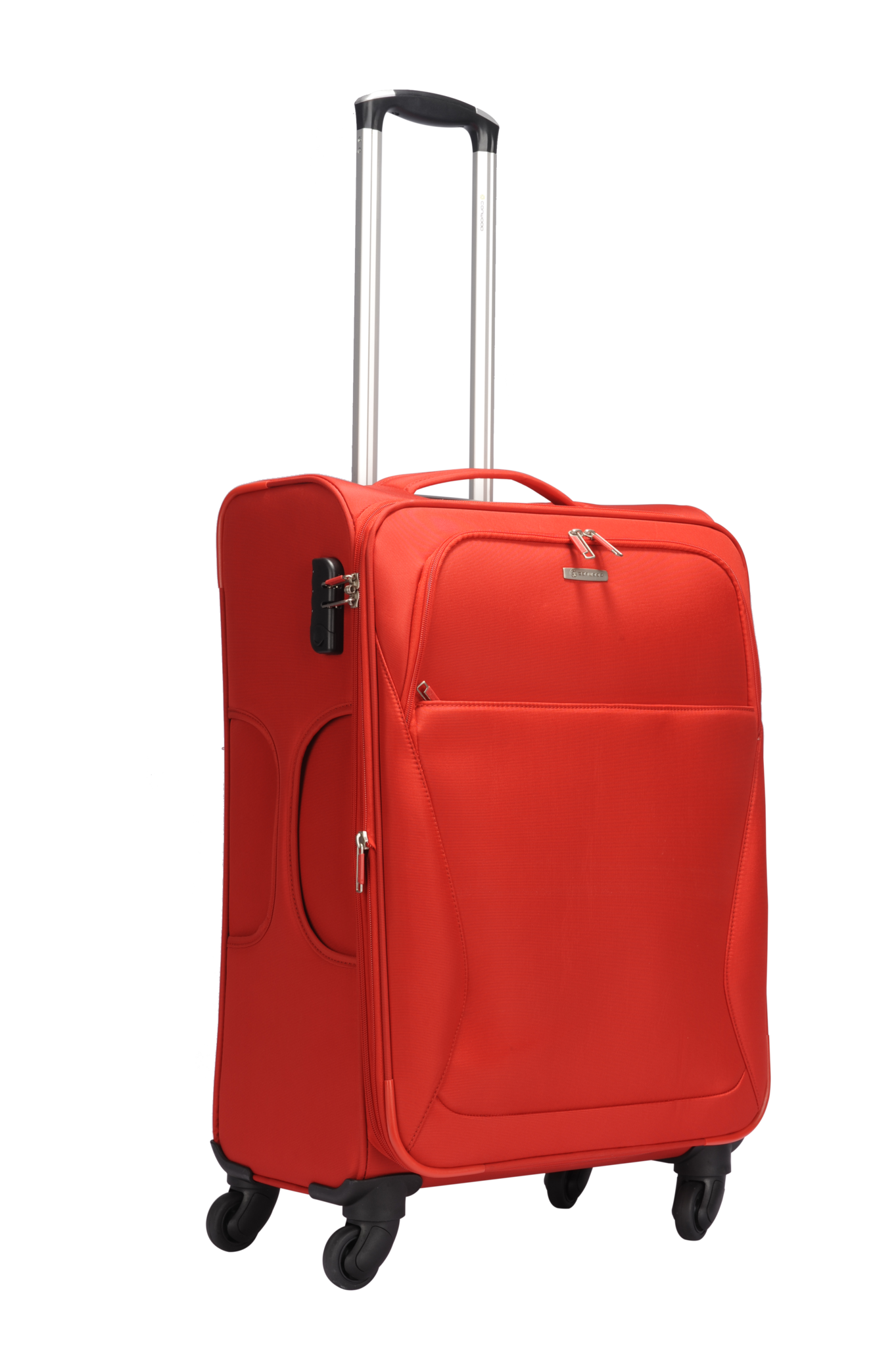 Red luggage PNG image
