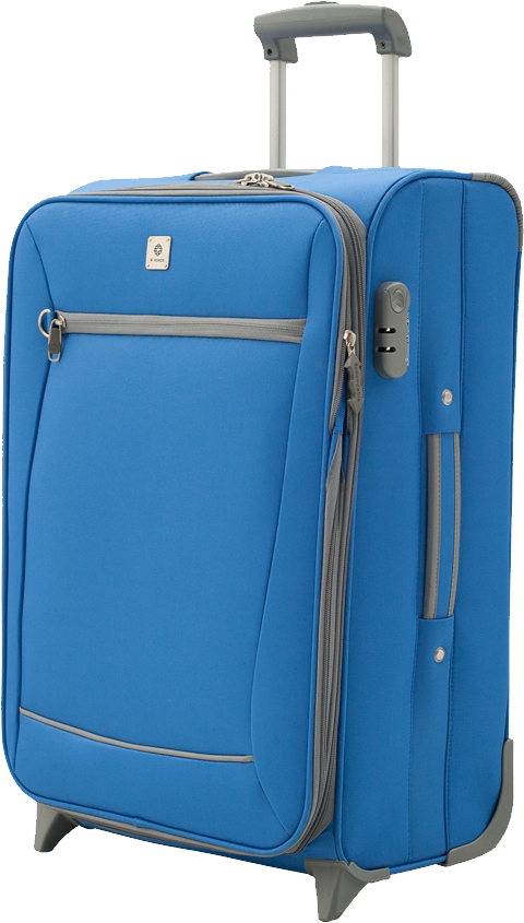 Blue luggage PNG image