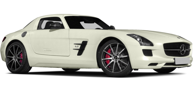 White Mercedes AMG car PNG image