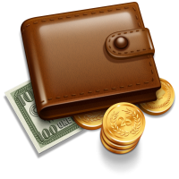 Purse money PNG image