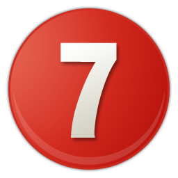 number 7 PNG