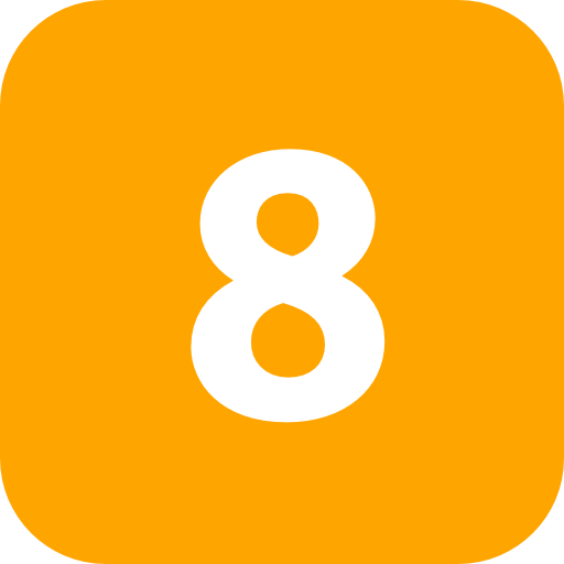 number 8 PNG