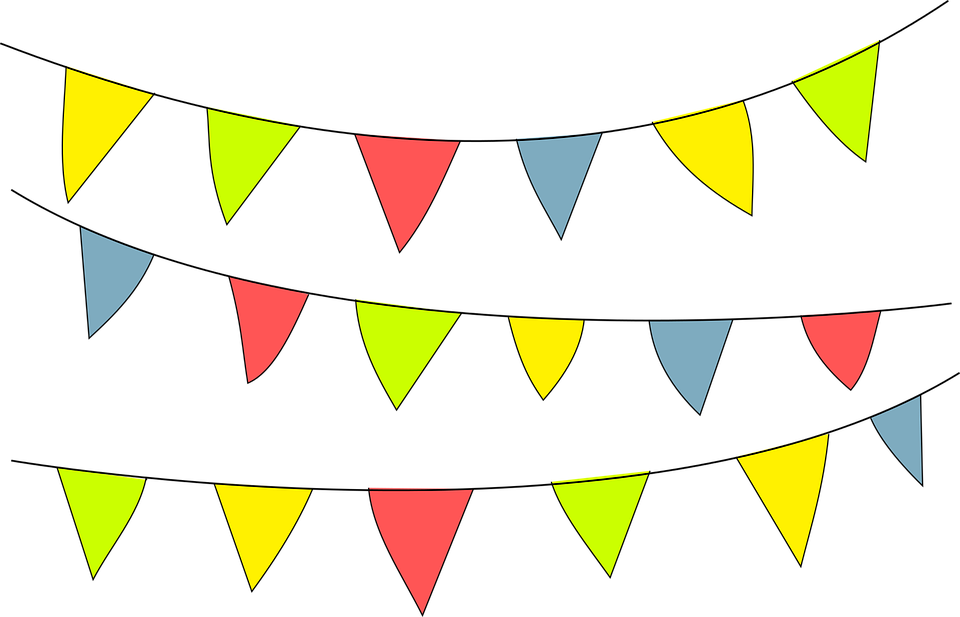Party flags PNG