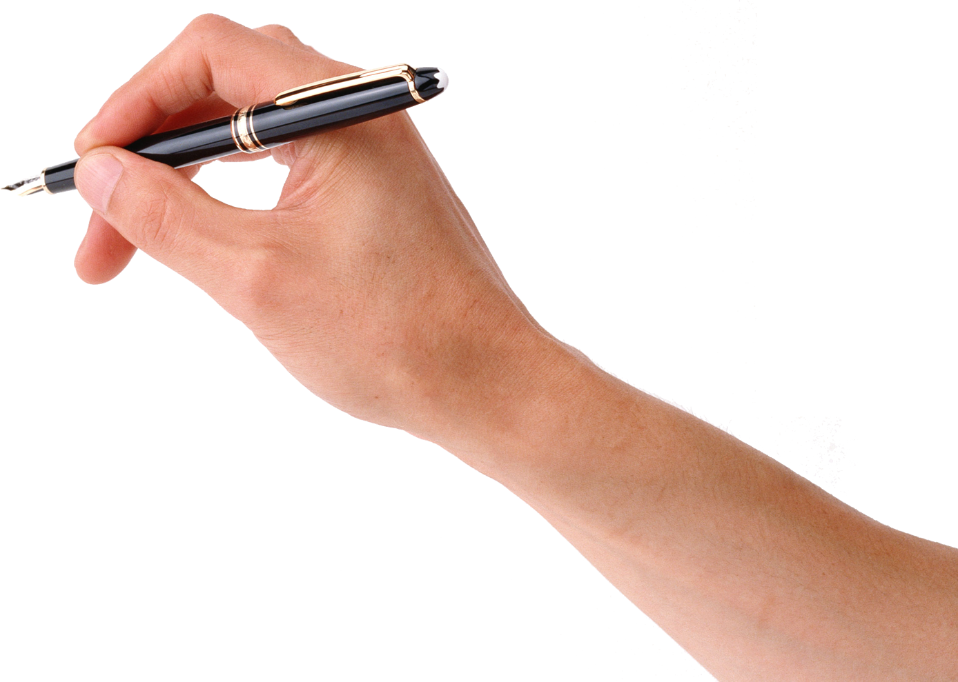 Pen in hand PNG image