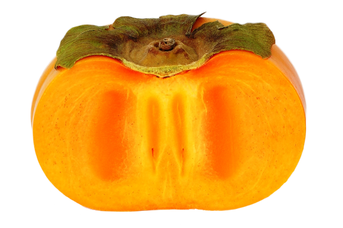 Persimmon cutted PNG image