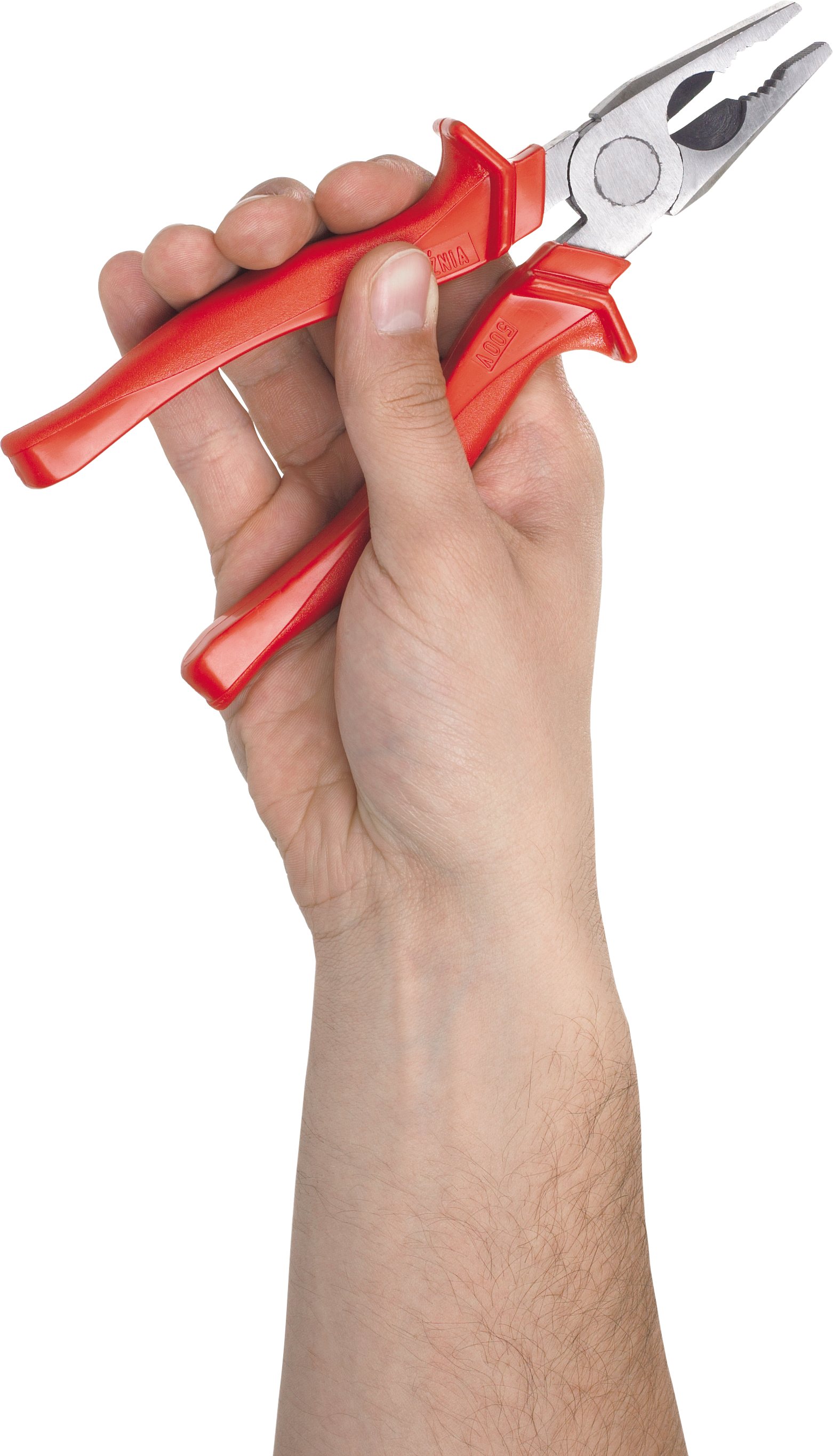 Plier in hand PNG image