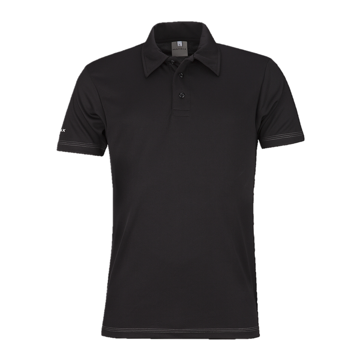 Black polo shirt PNG image
