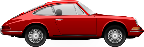 Porsche old car PNG image