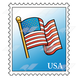 Postage stamp PNG