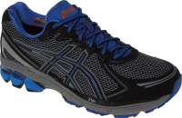 Black Asics running shoes PNG image