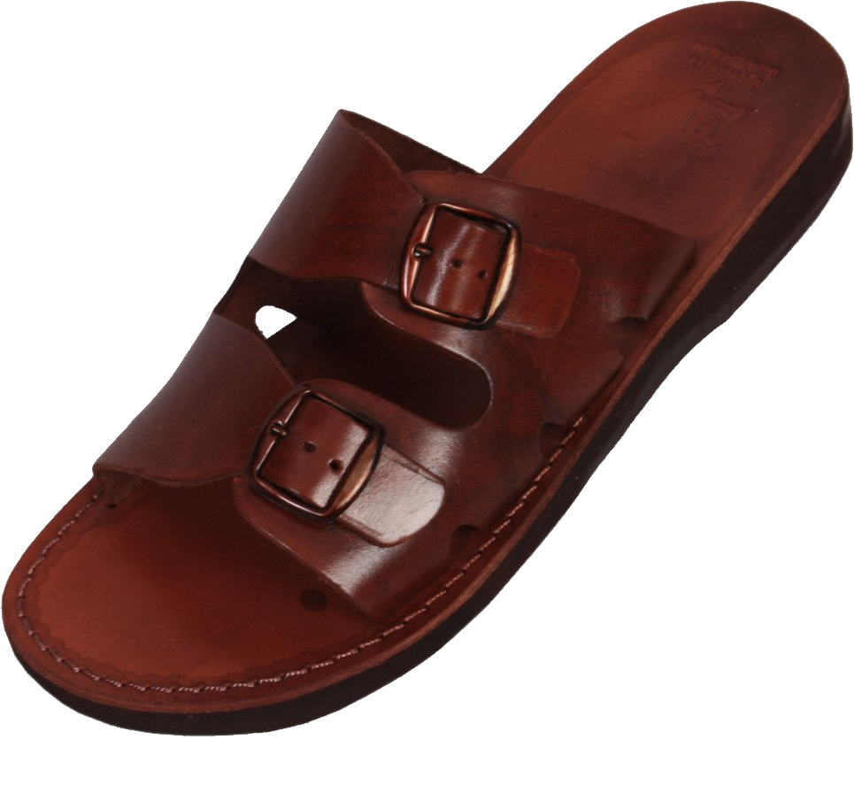Leather sandals PNG image