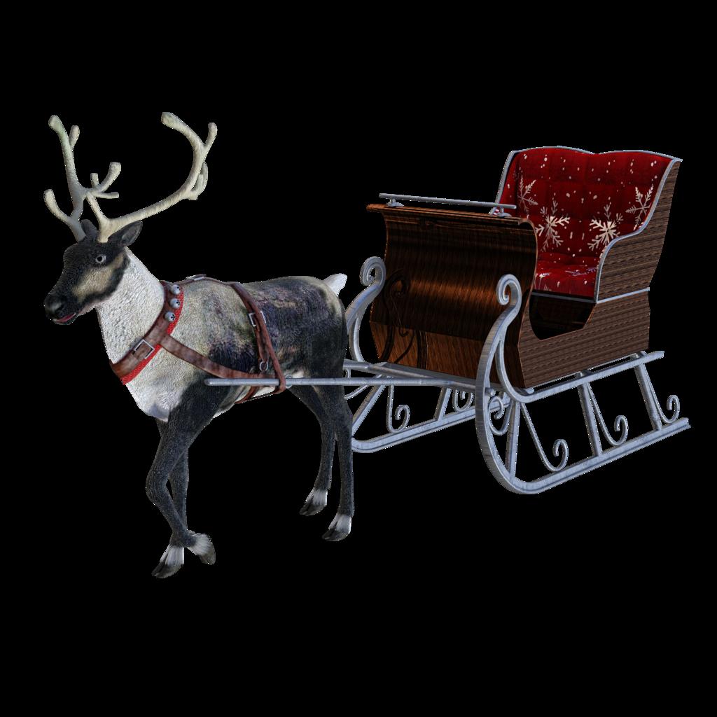 santa sleigh png