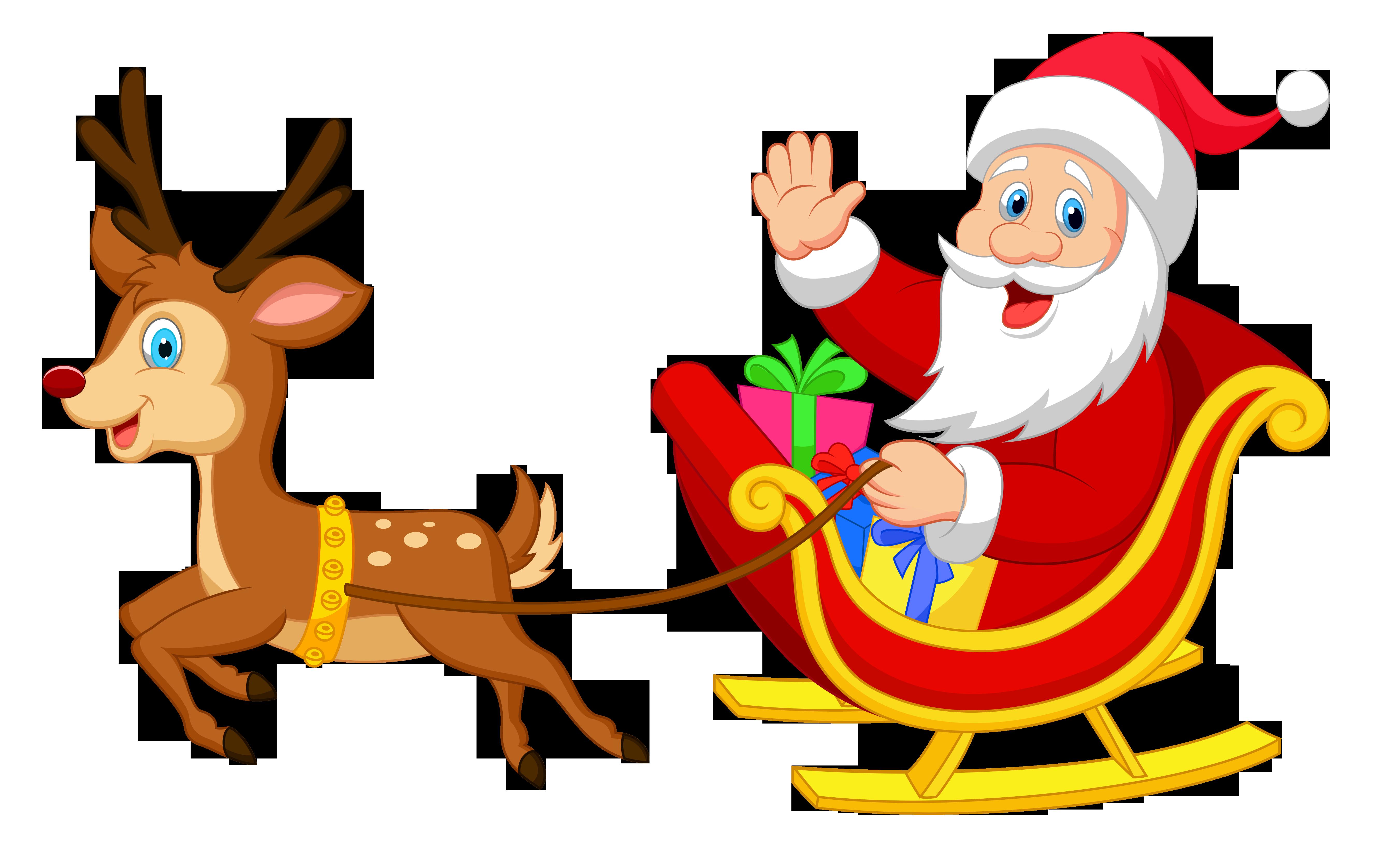 santa sleigh png images free download