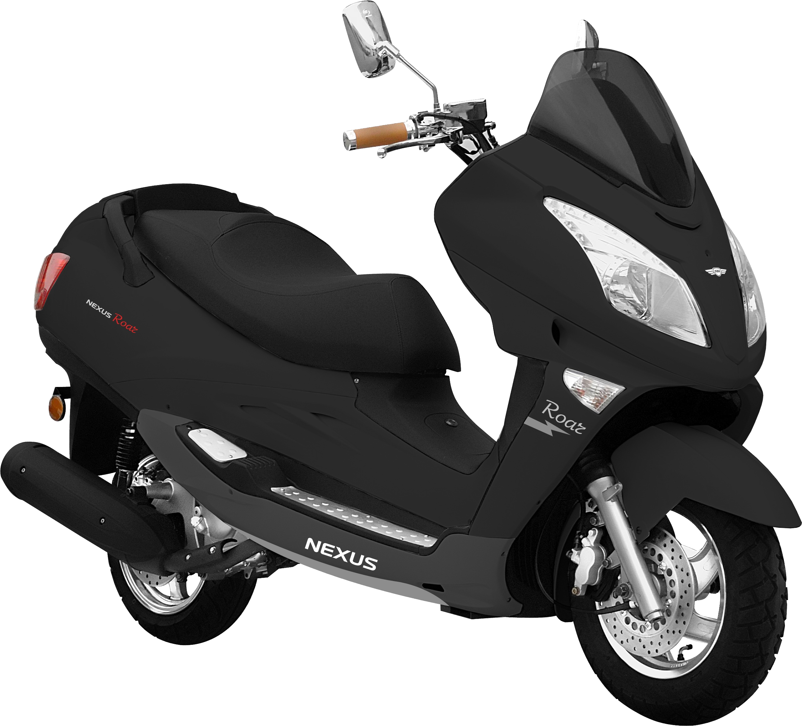 Black scooter PNG image