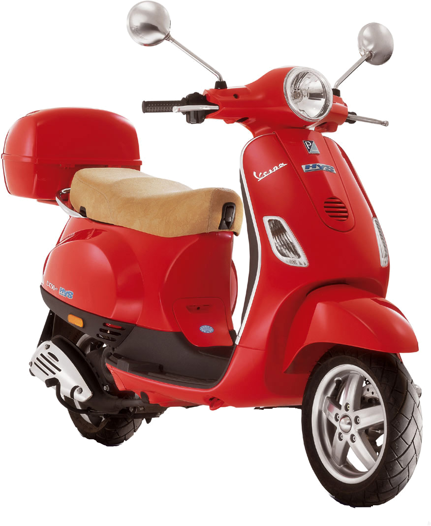 Red scooter PNG image