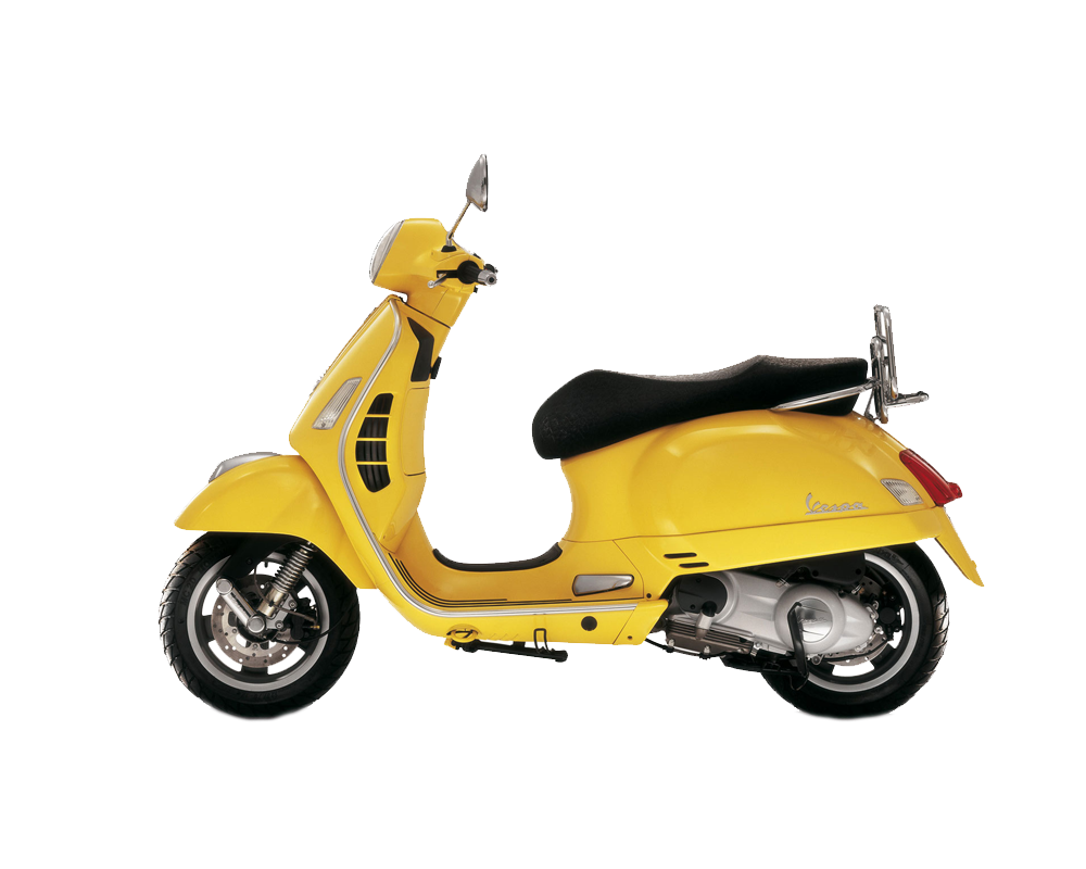 Yellow scooter PNG image