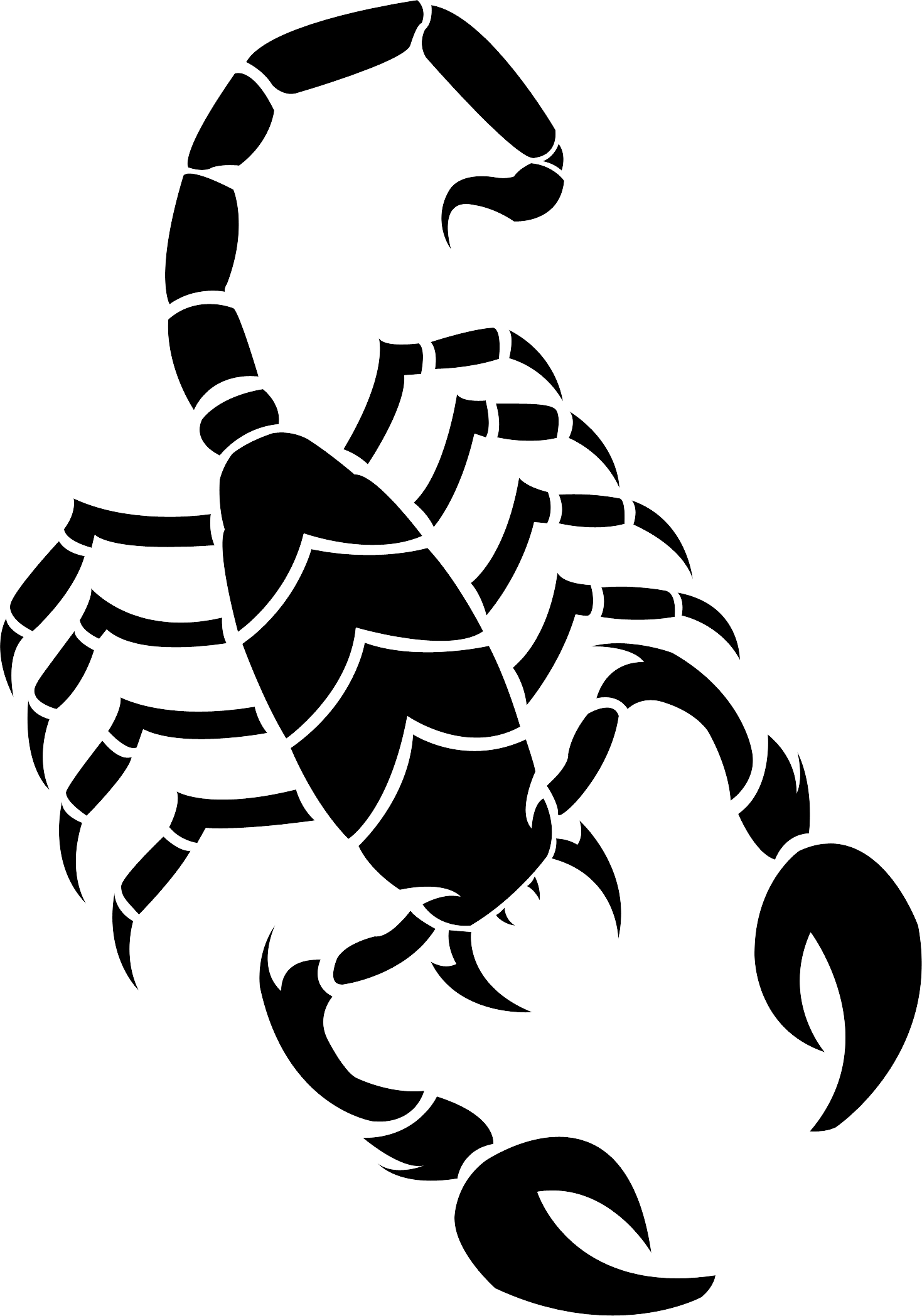 Scorpion tattoo silhouette PNG