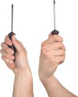 Screwdriver in hand PNG image