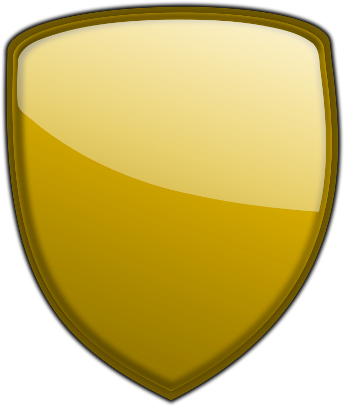 gold Shield PNG images Download