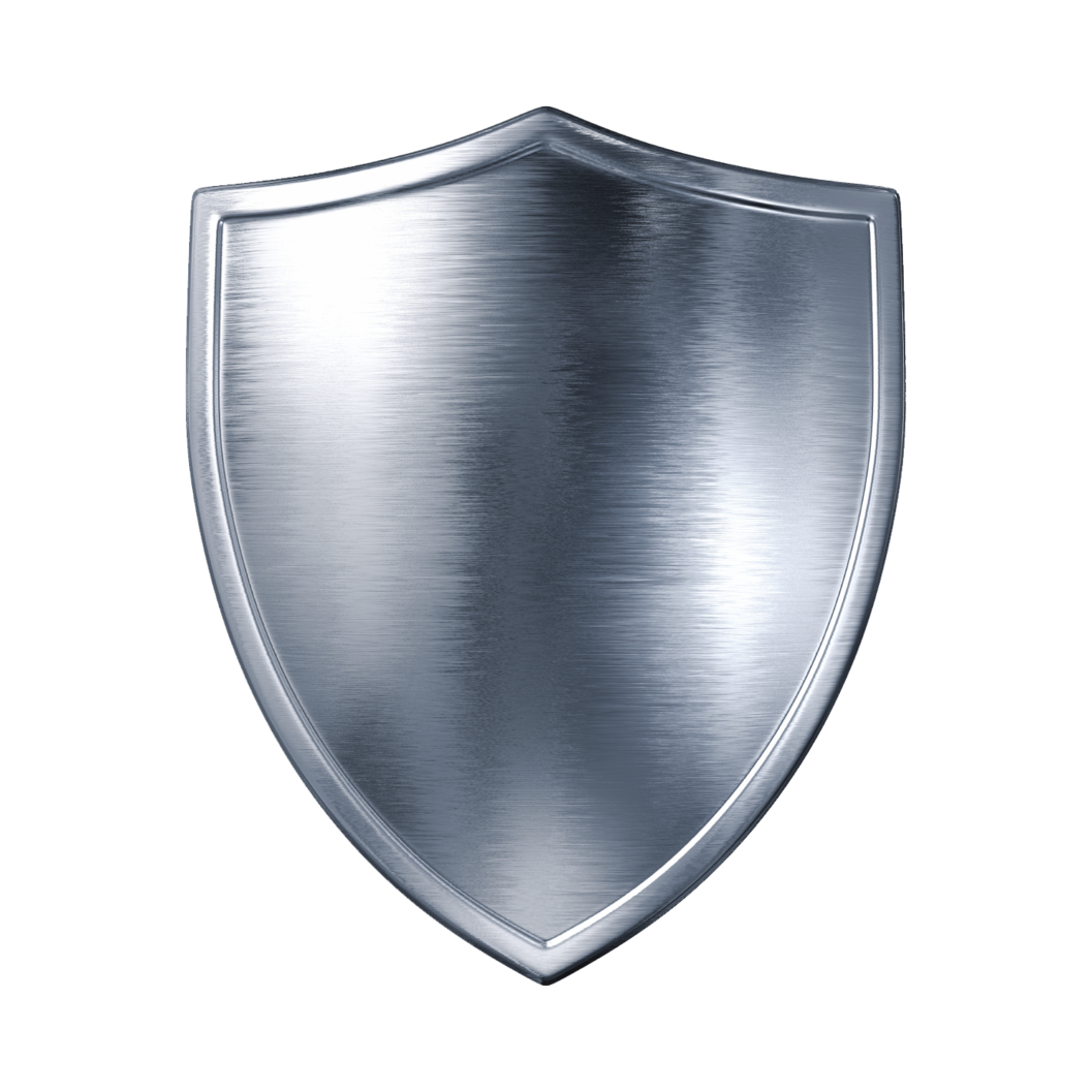 silver metal shield PNG image