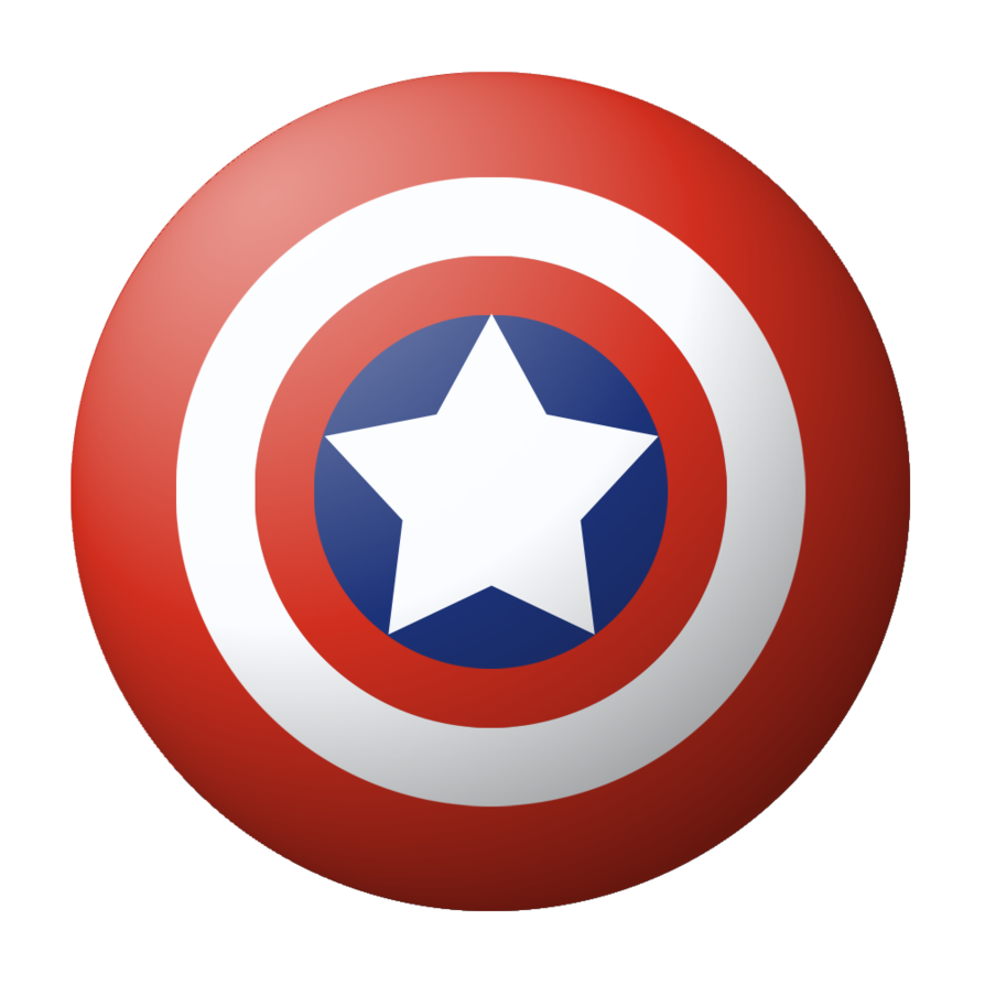 round captain America shield PNG image