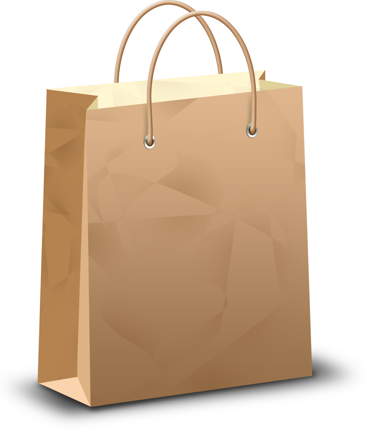 Paper shopping bag PNG image